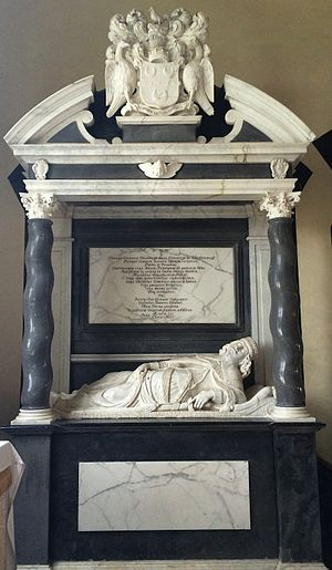 Thomas Coventry, 2nd Baron Coventry - Memorial to the 2nd Baron Coventry in the church at Croome Court