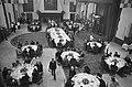 Staatsbezoek uit Senegal, lunch in Ridderzaal, president Senghor en mevrouw Den , Bestanddeelnr 927-5384.jpg