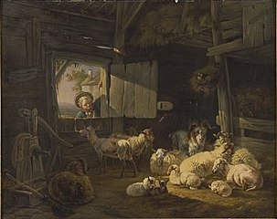 Stable with Sheep and Goats