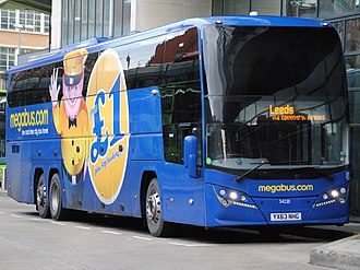 Volvo B11R - Megabus Plaxton Elite i bodied B11R at Manchester Shudehill Interchange in September 2013
