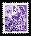 Stamps GDR, Fuenfjahrplan, 15 Pfennig, Offsetdruck 1953, 1957.jpg