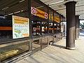 Stanice metra Jinonice, uzavřený vchod.jpg