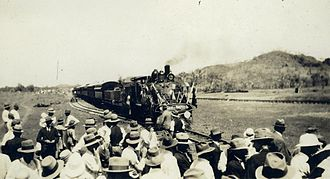 Mount Isa - The Attorney General of Queensland, John Mullan, officially opened the railway line on 6 April 1929
