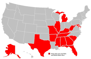 Rick and Bubba - Image: States that carry Rick&Bubba