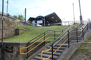 Percy Main Metro station Tyne and Wear Metro station in North Tyneside