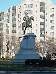 Statue of Winfield Scott by Henry Kirke Brown (Scott Circle, Washington DC, 2006)
