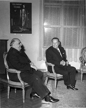 Miroslav Krleža - Krleža with President Josip Broz Tito