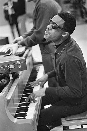 Stevie Wonder - Rehearsing for a performance on Dutch TV in 1967