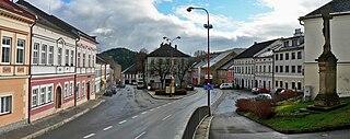 Štíty Town in Olomouc, Czech Republic