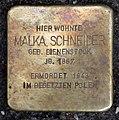Stolperstein Choriner Str 81 (Mitte) Malka Schneider.jpg