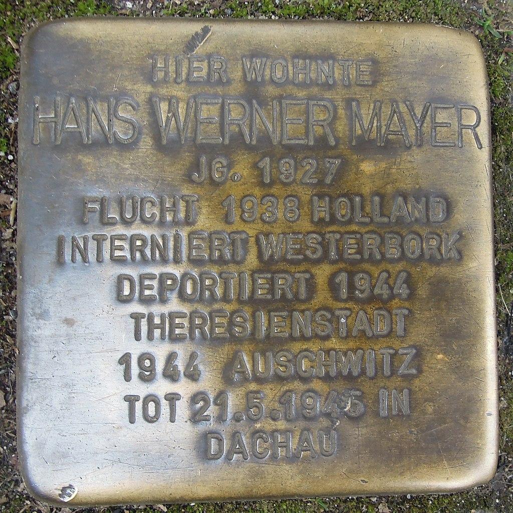 Stolperstein für Hans Werner Mayer