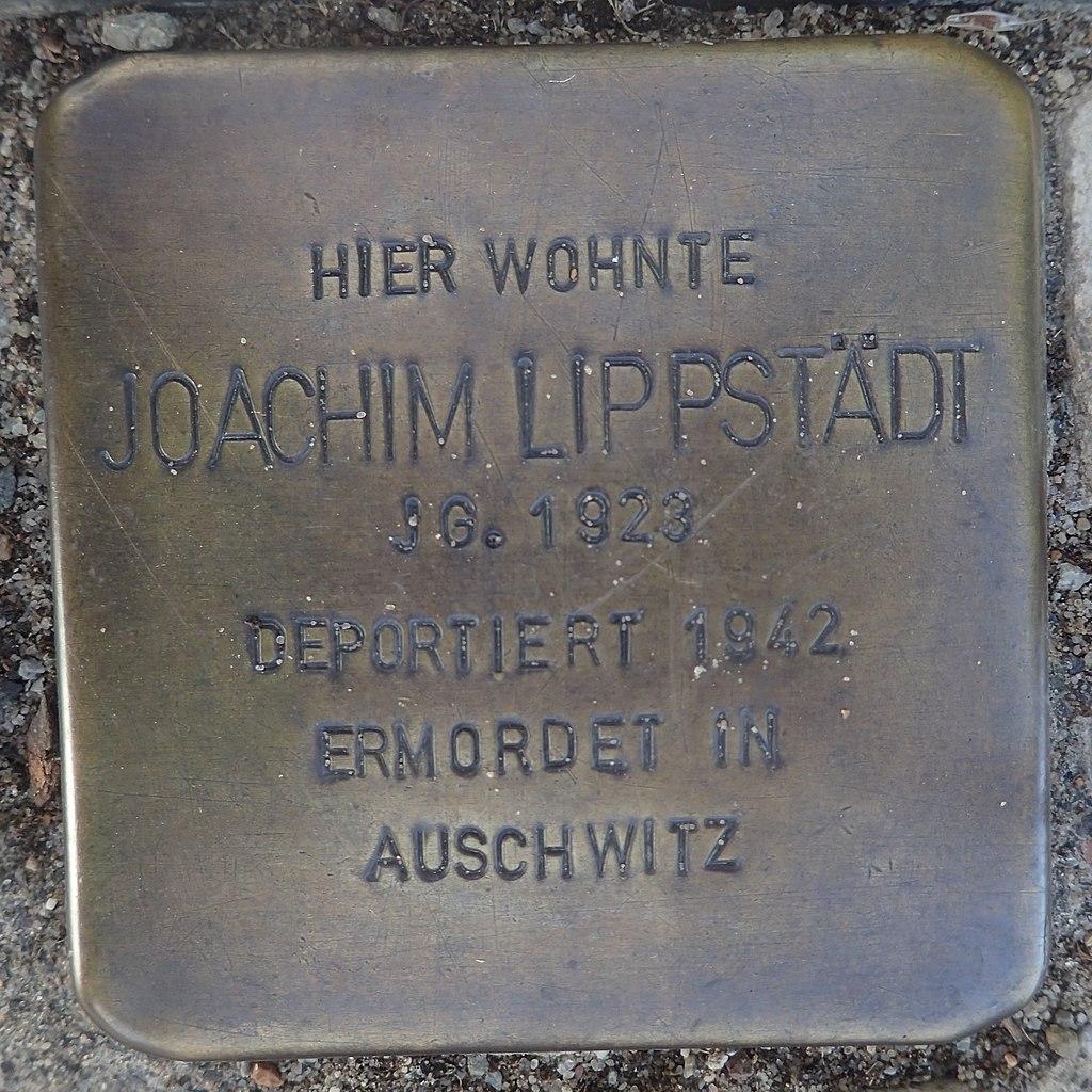 Stolperstein Gardelegen Bahnhofstraße 87 Joachim Lippstädt