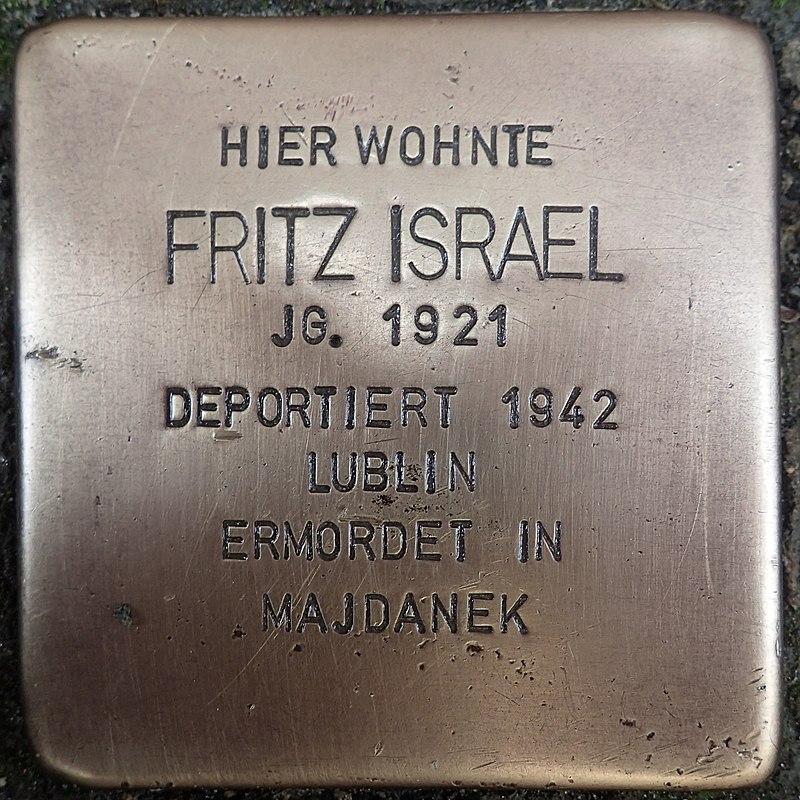 Stolperstein für Fritz Israel