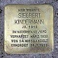 Stolperstein Sredzkistr 8 (Prenz) Siegbert Kindermann.jpg