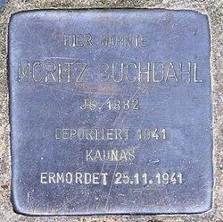 Photo of Moritz Buchdahl brass plaque