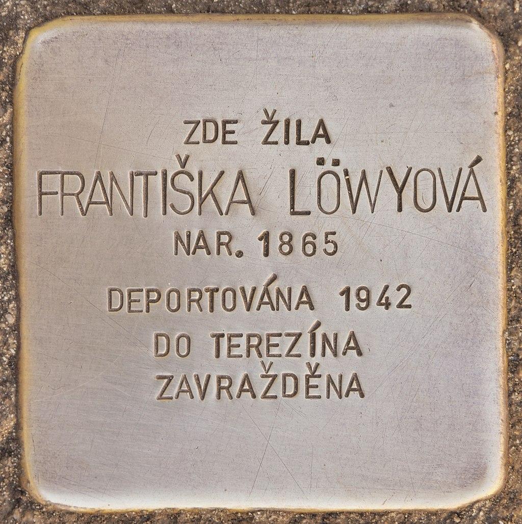 Stolperstein für Frantiska Löwyova (Horaždovice).jpg