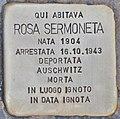 Stolperstein für Rosa Sermoneta (Rom).jpg
