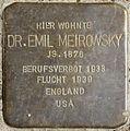 Stolpersteine Köln, Dr. Emil Meirowsky (Fürst-Pückler-Straße 42).jpg