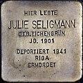 Stolpersteine Köln, Julie Seligmann (Lübecker Straße 22).jpg