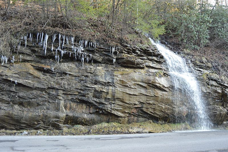 File:Stonega Road waterfall.jpg