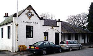 Straiton - McCandlish Hall. The village hall in Straiton