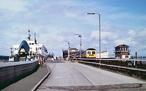 Stranraer railway station - Stranraer Harbour station in August 1980
