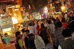 Old Delhi - Busy streets near Jama Masjid, Old Delhi.