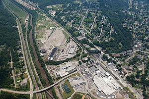 Struthers, Ohio - Aerial view of the city
