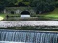 Studley Royal - Rustic Bridge and Two Weirs - geograph.org.uk - 1005900.jpg