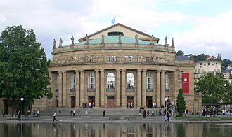Max Littmann - Opera house in Stuttgart 1909-1912