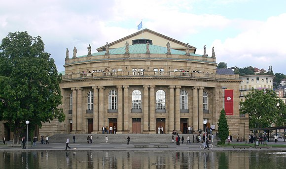 Staatsoper Stuttgart, home to the Stuttgart Ballet