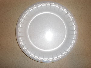 Saucer - Image: Styrofoam saucer