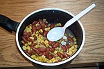 Succotash made with corn and kidney beans