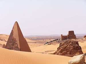 Amanitenmemide - The pyramid of Amanitenmemide  (on the right in the distance)