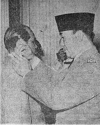 Sukarno and Simatupang Suara Rakyat 22 Feb 1952 p1.jpg