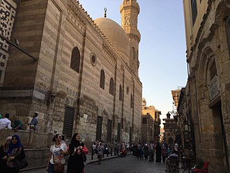 Mosque-Madrassa of Sultan Barquq - Outer view from Muizz Street.