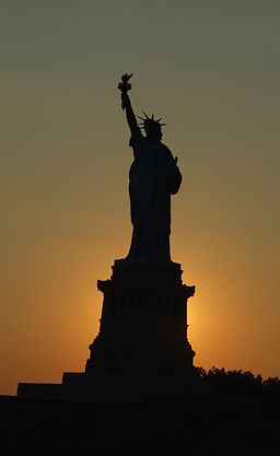 Sunset Statue of Liberty