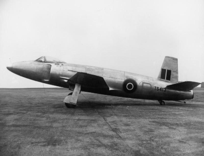 Supermarine Attacker TS413 on the ground 1947