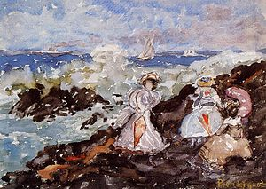 Cohasset, Massachusetts - Surf, Cohasset, Maurice Prendergast, ca. 1900