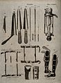 Surgical instruments. Engraving by Andrew Bell. Wellcome V0016370.jpg