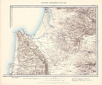 Isfiya - Image: Survey of Western Palestine 1880.05