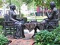 Susan B. Anthony and Frederick Douglas statue near Susan B. Anthony's House.jpg