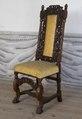 Svarvad stol med lejontassar - Skoklosters slott - 103853.tif