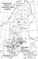 Sveriges indelning uti arméfördelningsområden, Nordisk familjebok.png