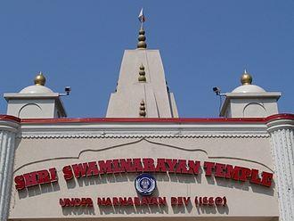 Shri Swaminarayan Mandir, New Jersey (Colonia) - The shikhars of the temple