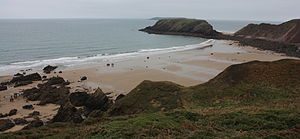 Marloes Sands - The Marloes Sands beach at the filming of Snow White and the Huntsman