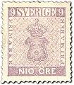 Swedish stamp 9 Öre POST.054045.jpg