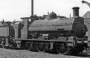 GWR 850 Class - No. 2007 (withdrawn 12/49) awaiting scrapping at Swindon 1950