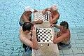 Széchenyi Gyógyfürdő, 2011. Chess in the Budapest Baths (6050758790).jpg