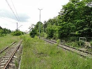 Reste des Bahnsteigs